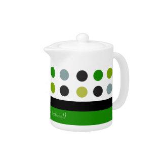 Green & white polka dot customizable design