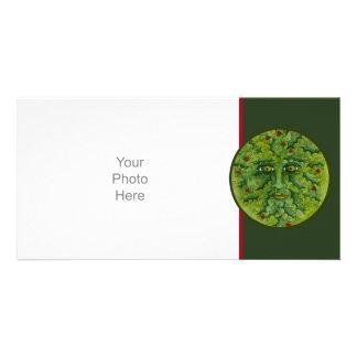 Greenman Holly Photo Card
