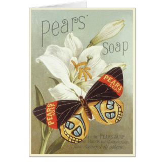 Greeting Card with Vintage Pears Soap Print