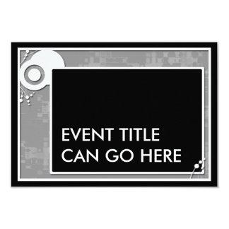 grey block scheme 9 cm x 13 cm invitation card