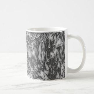 Grey Metal Rough Surface Basic White Mug