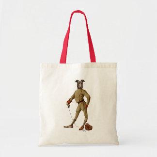 Greyhound Fencer Dark Full 2 Budget Tote Bag