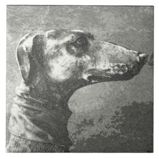 Greyhound Large Square Tile