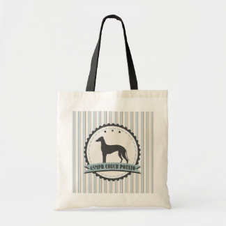 Greyhound Retired Racer 45 mph Lazy Dog Budget Tote Bag