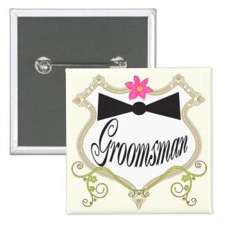 Groomsman BowTie Wedding Badges