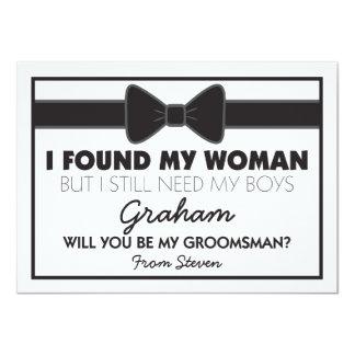 Groomsmen Wedding Bow Tie 11 Cm X 16 Cm Invitation Card