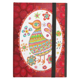 Groovy Folk Art Bird iPad Case with Kickstand