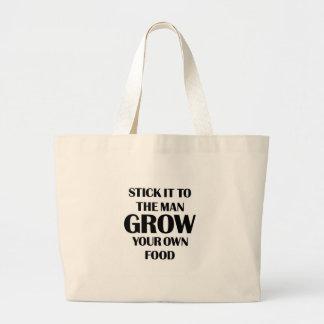 Grow Your Own Food Jumbo Tote Bag