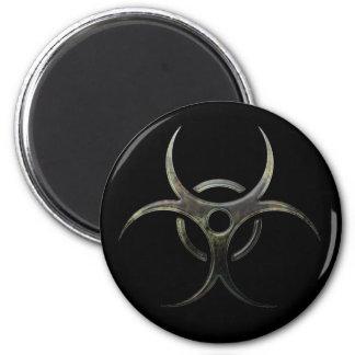 Grunge Biohazard Symbol 6 Cm Round Magnet