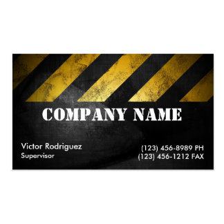 Grunge Construction Pack Of Standard Business Cards