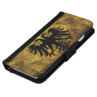 Grunge Holy Roman Empire Flag iPhone 6 Wallet Case