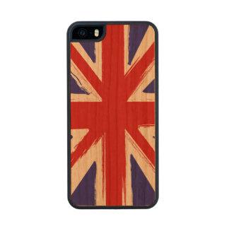 Grunge Style British Union Jack Flag Wood iPhone SE/5/5s Case
