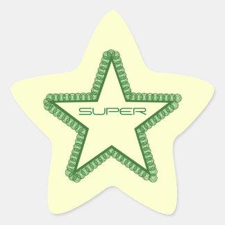 Grunge Superstar Star Stickers, Green Star Sticker