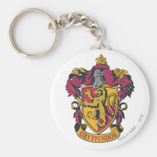 Gryffindor crest red and gold basic round button key ring