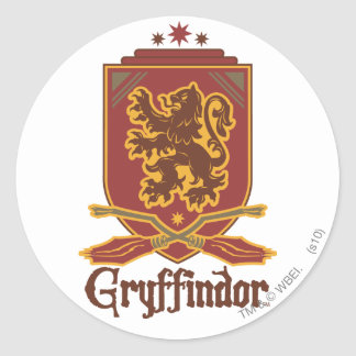 Gryffindor Quidditch Badge Round Sticker