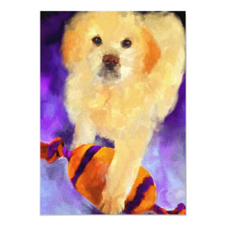 Guarding the Ball (puppy) 5x7 Mini Prints 13 Cm X 18 Cm Invitation Card