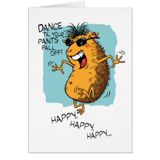 Guinea Pig Boogie Birthday Greeting Card
