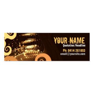 "GUITAR ""GrungeOrangey"" Profile card Pack Of Skinny Business Cards"