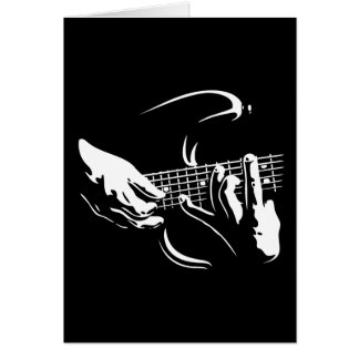 guitar-hands-DKT Greeting Card