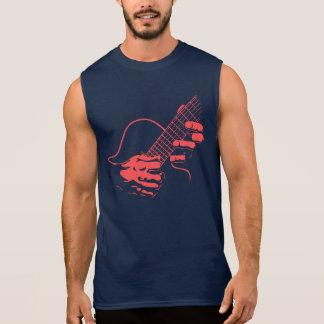 Guitar Hands II -red Sleeveless T-shirt