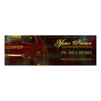 """GUITAR """"miniRED"""" Profile card Pack Of Skinny Business Cards"""