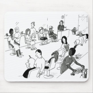 Hair and Beauty Stylist Customers Mouse Pad