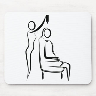 Hair Coloring Stylist Stick Figure Mouse Pad