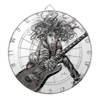 Hair Guitar Dart Board