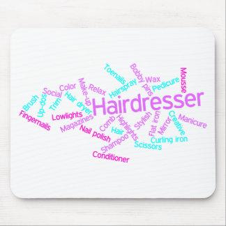 Hairdresser Word Cloud Mousepad
