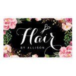 Hairstylist Hair Stylist Romantic Floral Wrapping Pack Of Standard Business Cards