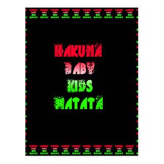 Hakuna Matata Baby Kids Gifts  amazing  color desi Postcard