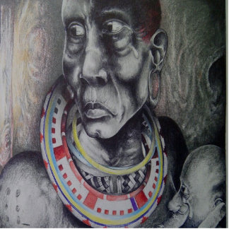 Hakuna Matata Beautiful Maasai photo Sculpture