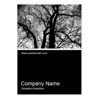 Half&Half Photo 0192 - High Contrast Tree Pack Of Chubby Business Cards