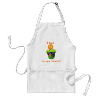 "Halloween apron ""For you , Dearies"""