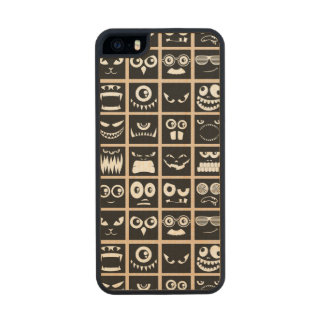 Halloween Avatars - Black Wood iPhone SE/5/5s Case