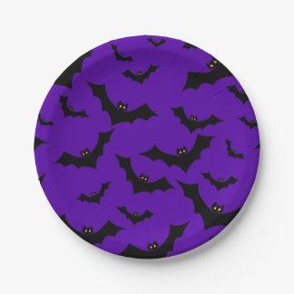 Halloween Bats 7 Inch Paper Plate