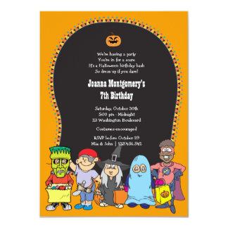 Halloween Birthday Kid's Costume Party Invitation
