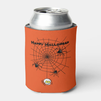 Halloween Can Cooler/Spiders and Web
