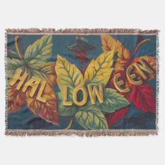 Halloween Colored Leaf Leaves Witch Bat
