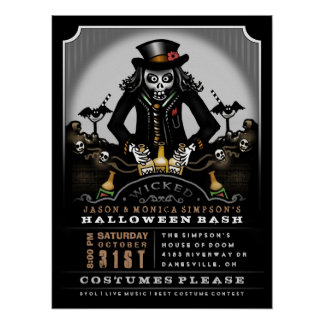 Halloween Party Invite Poster 18 x 24 Ghoul Bash