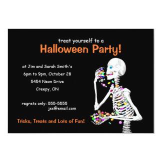 Halloween Party Skeleton 13 Cm X 18 Cm Invitation Card