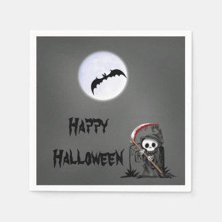 Halloween Reaper Moon Bat Tombstone Paper Napkins