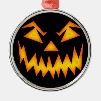Halloween Silver-Colored Round Decoration