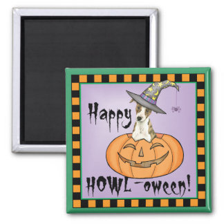 Halloween Whippet Square Magnet