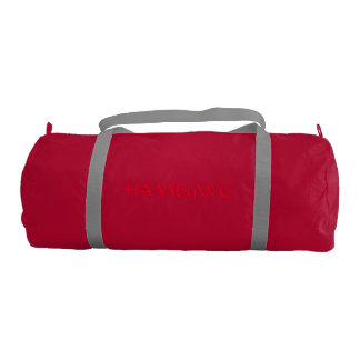 HAMbyWhiteGlove Red - Gym Duffle Bag Gym Duffel Bag