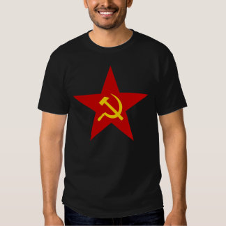 Hammer and Sickle Communist Star Tshirts