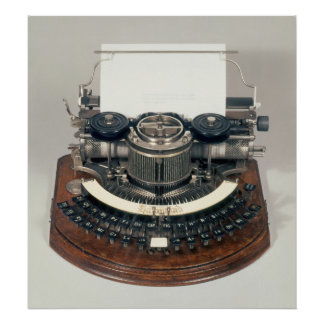Hammond typewriter, with the ideal keyboard poster