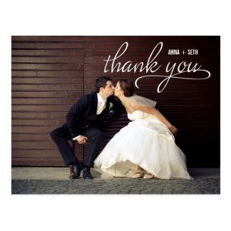 HANDWRITTEN Thank You Postcard - White