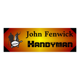 Handyman Service Red Pack Of Skinny Business Cards
