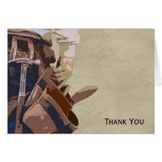 Handyman Tools Watercolor Note Card